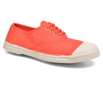 Tennis Lacets Sneaker in rot