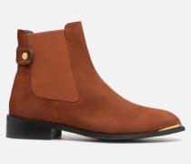 Busy Girl Bottines Plates #3 Stiefeletten & Boots in braun