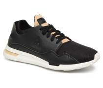 R Pure LeatherinTech Mesh Sneaker in schwarz