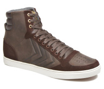 Ten Star Mono Oiled High Sneaker in braun