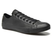 Chuck Taylor All Star Monochrome Leather Ox M Sneaker in schwarz