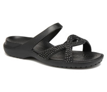 Meleen Twist Diamante Sandal Clogs & Pantoletten in schwarz