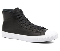 Star Player Leather Hi Sneaker in schwarz