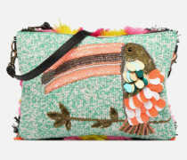 PIVORNO Large Beaded Pouch Mini Bag in mehrfarbig