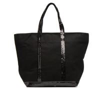 Cabas Coton M+ Zip Handtasche in schwarz