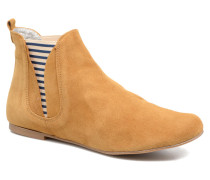 Patch fly boat Stiefeletten & Boots in braun