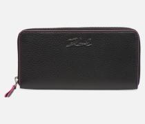 kinkarry all zip around wallet in schwarz