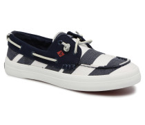 Crest Resort Breton Stripe Schnürschuhe in blau