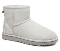 Mini Studded Bling Stiefeletten & Boots in grau
