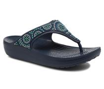 Sloane Beaded Flip Sandalen in blau