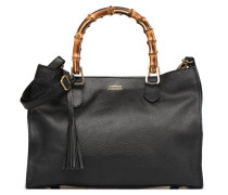 Sac Victoria Poignées Bambou Handtasche in schwarz