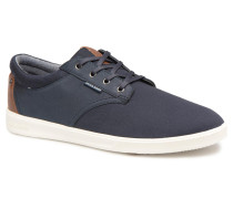Jack & Jones JFW Gaston Canvas Mix Sneaker in blau