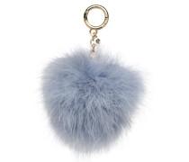 Charm Fur Pompom Portemonnaies & Clutches für Taschen in blau