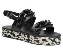 Plexi Platform Sandal Sandalen in schwarz