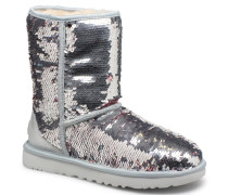 W Classic Short Sequin Stiefeletten & Boots in silber