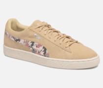 B WN Suede IRREG. PEBBLE Sneaker in beige