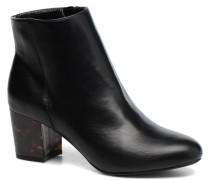Mottled Heeled Boot Stiefeletten & Boots in schwarz