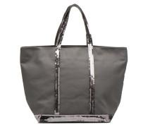 Cabas Coton M+ Zip Handtasche in grau
