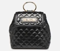 NEW SHINY QUILTED BACKPACK Rucksäcke in schwarz