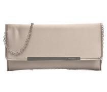 Pochette satin Handtasche in beige