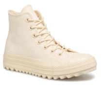 Chuck Taylor All Star Lift Ripple Canvas Hi Sneaker in beige