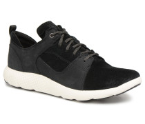 FlyRoam Leather Oxford Sneaker in schwarz