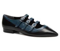 Georgette Calf Ballerinas in schwarz