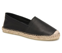 KATIE LEATHER ESPADRILLE Espadrilles in schwarz