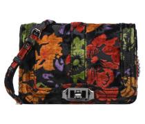 Small Love Crossbody Floral Velvet Handtasche in mehrfarbig