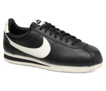 Classic Cortez Leather Se Sneaker in schwarz