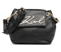 K Signature Sac Souple Handtasche in schwarz