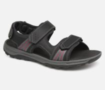 TT 3 Strap Sandal C Sandalen in schwarz
