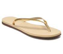 You Metallic Zehensandalen in goldinbronze