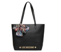 Cabas Lettering Love Handtasche in schwarz