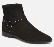 Vmvivi Leather Boot Stiefeletten & Boots in schwarz