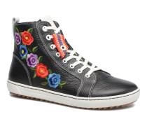Barlett Cuir Sneaker in schwarz