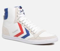 Slimmer Stadil High canvas Sneaker in weiß