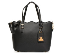 VIALLAN Handtasche in schwarz