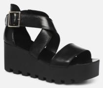 L.16.SUBWAY Sandalen in schwarz