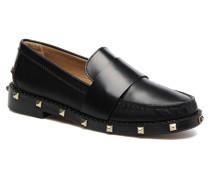 Mocassin Clous Slipper in schwarz