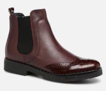Quark Stiefeletten & Boots in weinrot
