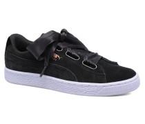 Wns Suede heart Vr Sneaker in schwarz