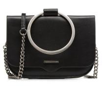 Ring Crossbody Handtasche in schwarz