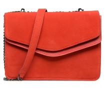 Tahira Suede Crossbody Handtasche in rot