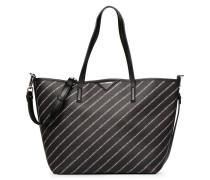 K Stripe Logo Shopper Handtasche in schwarz