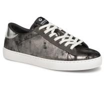 Deportivo Terciopelo Metal Sneaker in silber