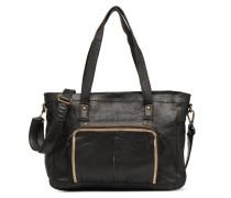 Inda Leather Shoulder Bag Handtasche in schwarz