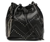 Sac Seau Cuir Studs Handtasche in schwarz