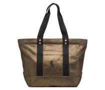 PP TOTE CANVAS Handtasche in goldinbronze