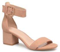 Indigo mid heel sandal Sandalen in beige